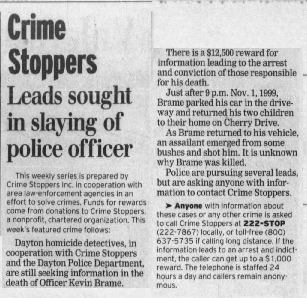 "Image of article titled ""Police seek leads in officer's shooting death"" from Dayton Daily News"