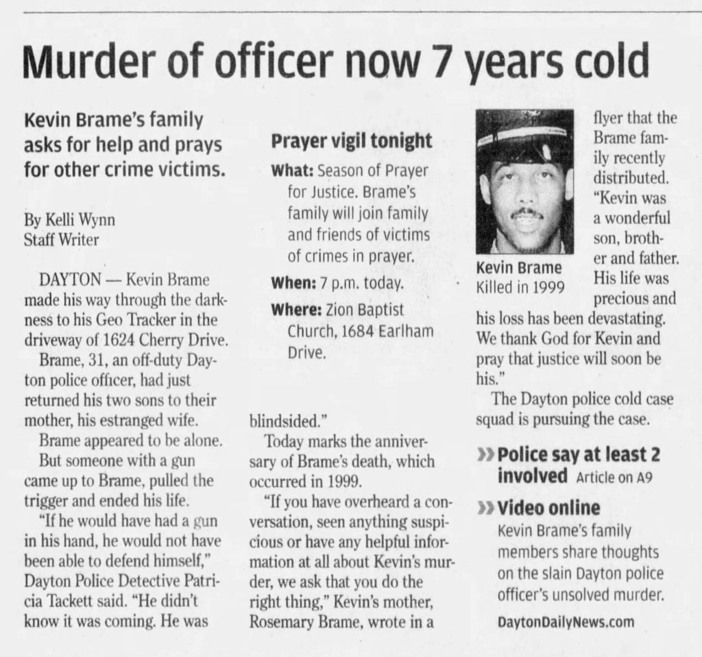 "Image of article titled ""Slain officer's mother stays vigilant 7 years after death"" from Dayton Daily News"