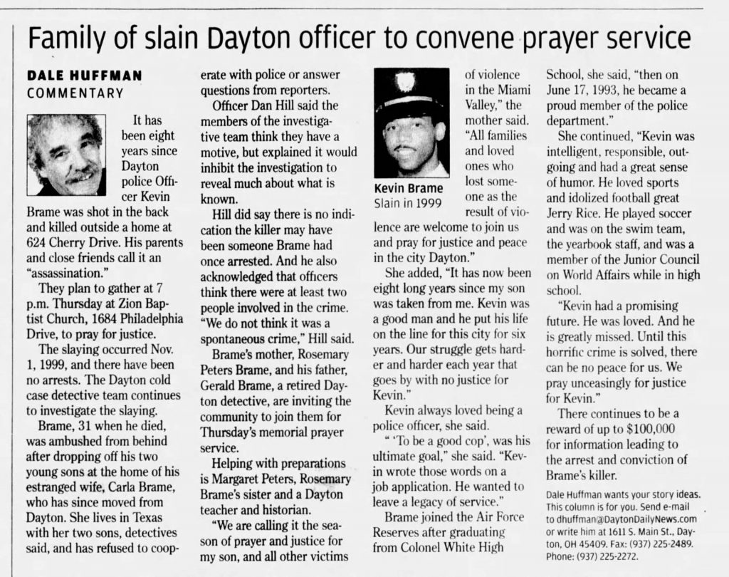 "Image of article titled ""Family of slain Dayton officer to convene prayer service"" from Dayton Daily News"
