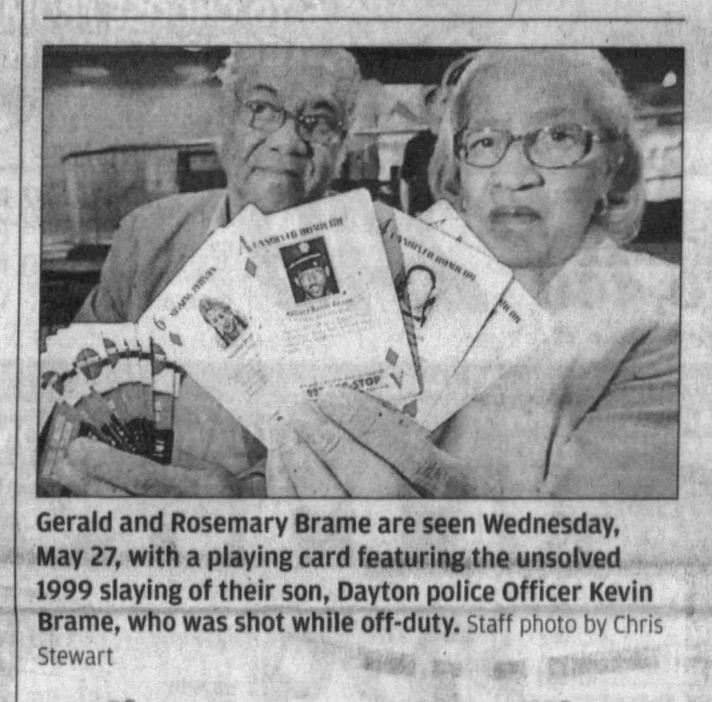 "Image of article titled ""Gerald and Rosemary Brame 10 years after son's murder"" from Dayton Daily News"