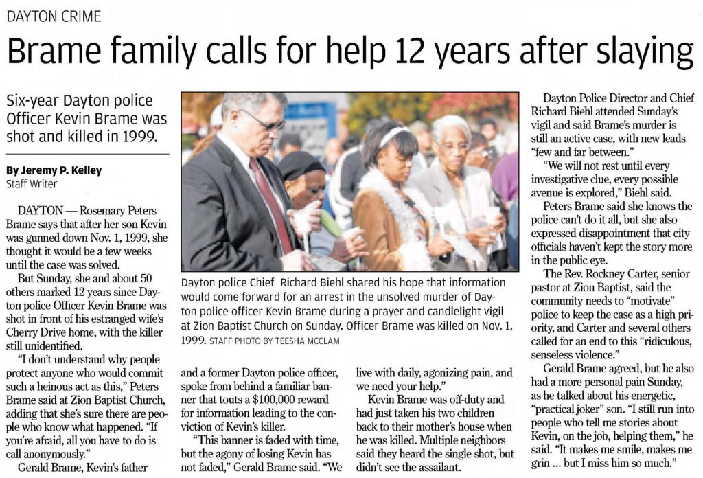 "Image of article titled ""Brame family calls for help 12 years after slaying"" from Dayton Daily News"